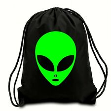 ALIEN HEAD DRAWSTRING BAG,GYM SACK,PE BAG,SWIMMING BAG