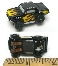 1994 Galoob Micro Machines 1/87th Slot Car ULTRA Rare BLACK FLAMED FORD MUSTANG