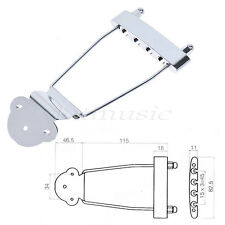 Parts Chrome Trapeze Tailpiece Bridge For Archtop Jazz Bass Guitar Parts