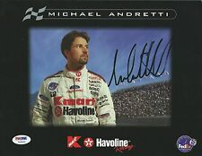Michael Andretti Signed 8x10 Photo PSA/DNA COA 1999 Indy Promo Picture Autograph