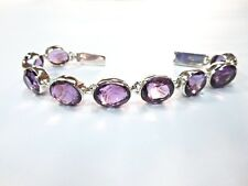 925 Solid Sterling Silver Charming Best Quality Amethyst Bracelet With 26 Grm
