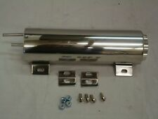 "3x9"" Polished Stainless Steel Radiator Overflow Catch Tank Street Rat Rod"