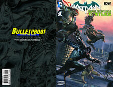 Batman Teenage Mutant Ninja Turtles TMNT #1 Bulletproof Variant Dell'Otto Cover!