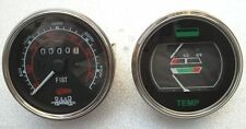 Fuel-Temperature Gauge+Tachometer - fits Fiat,  White / Oliver, MM, AC Tractors