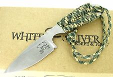 White River Knife & Tool Backpacker Knife Camo Paracord Handle WRBP-CA New