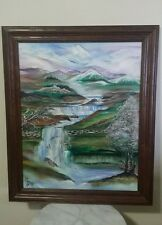 "Painting Art ""Spring in New England "" signed by Artist Carole Fisher"