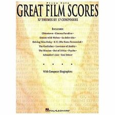 Great Film Scores 39 Themes 17 Composers Hal Leonard Piano Solos Music Book