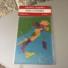 VINTAGE# ANNI 80 MASCHERA GEOGRAFICA  ITALIA SVIZZERA# RARA SIGILLATA