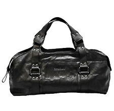 NEW BACCINI tote bag - hand bag purse women`s bag black genuine leather italy