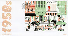 Jersey 2016 FDC 1950s Popular Culture Street Life 1v M/S Cover Cars Stamps