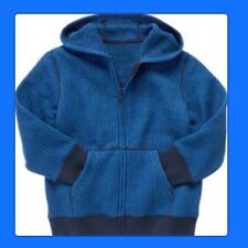 NWT M(7/8) Gymboree KING OF COOL HOODIE hooded Sweater Sweatshirt Royal Blue Blk