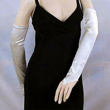 """Fingerless Opera Gloves 18"""" Long Satin Stretch, Evening, Bridal and Prom (G161)"""