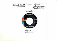 "SOUL.GENE McDANIELS.ANYONE ELSE / THE OLD COUNTRY.U.S.ORIG 7"".EX"