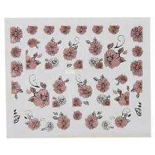 3D Embossed Pink Flowers Nail Art Decal Tips Stickers Sheet Manicure Tool #4