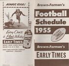 1955 BROWN-FORMANS COLLEGE AND PRO FOOTBALL SCHEDULE