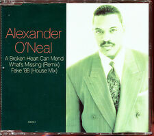 ALEXANDER O'NEAL - A BROKEN HEART CAN MEND / FAKE '89 HOUSE MIX - CD MAXI [1771]