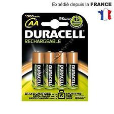 Piles DURACELL ACCU RECHARGEABLE 1300mAh Lot de 4 LR06 AA Prix sacrifié !!!