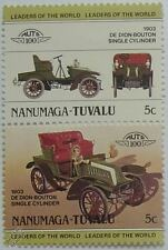 1903 DE DION BOUTON SINGLE CYLINDER Car Stamps (Leaders of the World / Auto 100)