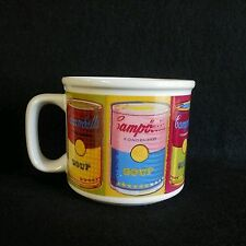 Campbell's Soup 1998 Andy Warhol Soup Mug Houston Harvest Original EUC 12 oz
