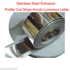 80mm x 35m Acrylic Luminous Letter Stainless Steel Extrusion Profile Coil Strips
