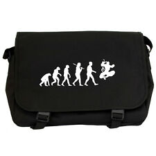 Evolution of Ninja Black Messenger Flight Bag martial arts karate kid mma NEW