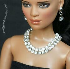 "Rhinestone Necklace and Earring Jewelry Set for 16"" Tonner Tyler doll 169B"