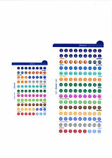 Filofax LARGE Diary Organiser Stickers Refill Multifit ( Personal A5 A4 ) 130137