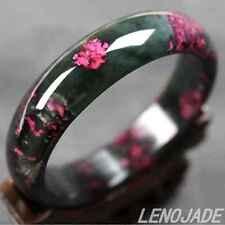 Natural Grade A Genuine Lavender Red Green Jadeite Jade Bangle Bracelet 57mm
