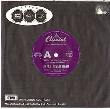 "LITTLE RIVER BAND - DOWN ON THE BORDER - 7"" 45 VINYL RECORD 1982"
