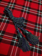 Bagpipe Drone Cord Silk Black Watch Tartan Color/Highland Bagpipe Cord Tri Color