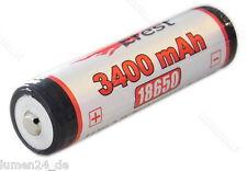 1x Efest 18650 3400 mAh,  Panasonic Zellen, protected, Leistung pur !!