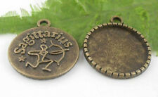 10Pcs Bronze Plated (Lead-Free)12 Constellation Arche r Charms Pendant 28x24mm