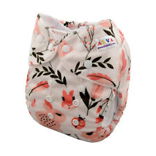 New ALVABABY Onesize Reusable Cloth Diapers Nappy +1Insert soft Minky For Girls
