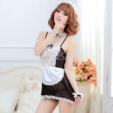 Sexy Women's Maid Costume Cosplay Dress Lingerie Set Uniform Servant Outfit