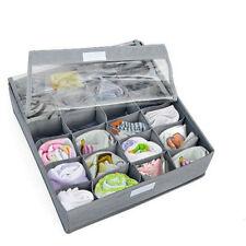 3PCS Underwear Bra Socks Ties Divider Closet Container Storage Box Organizer IT