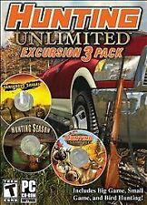 HUNTING UNLIMITED EXCURSION 3 PACK (2011) PC CD-ROM NEW & FACTORY SEALED