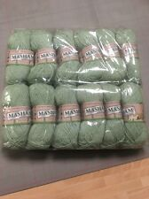 12 X King Cole MASHAM DK 1297 Hops Green 50g ball 100% Pure British WOOL