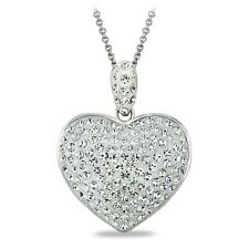 Crystal Heart Necklace, Made with Swarovski Elements