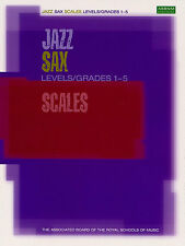 ABRSM Jazz Saxophone Scales Levels Grades 1-5 Learn to Play Alto Sax Music Book
