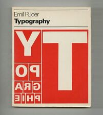 1982 Emil Ruder TYPOGRAPHY: A MANUAL OF DESIGN Modern SWISS Graphic Design Book