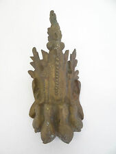 Antique Old Bronze Metal Eagle Claw Large Furniture Ornate Foot Cover Hardware