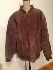 GENUINE SUEDE LEATHER LINED NORTHCREST BOMBER COAT JACKET Men's XXL 50-52