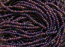10/0 HANK NAVY BLUE AURORA BOREALIS CZECH GLASS SEED BEADS