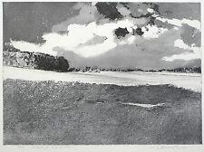 WOLFGANG WERKMEISTER - Landschaft und Wolkenzug - Radierung / Aquatinta 2003