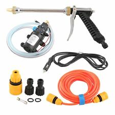 Portable car washer W water gun high pressure pipe electric car cleaner 12V 60W