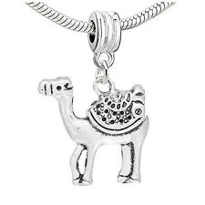 Camel Dangle Charm Bead Compatible with European Snake Chain Bracelet