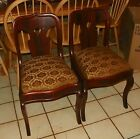 Pair of Flame Mahogany Empire Parlor Chairs / Sidechairs  (SC208)