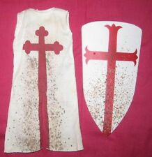 "Templar Shield & Tunic for 1/6 scale 12"" Action Figure.Sideshow,Medieval Knight"