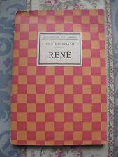 Collection des dames Chateaubriand René Jolie couverture vintage Livre ancien