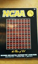1990 NCAA Mens First and Second Round Indianapolis Official Program